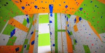 Vstup na lezeckou stěnu v Brně