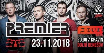 Vstupenka na koncert kapely PREMIER 23.11.2018 v Dolním Benešově