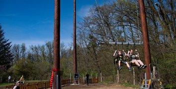 4 vstupy na OBŘÍ houpačku Big Swing v Lanovém centru Hájenka Břeclav