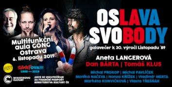 Oslava svobody - galavečer k 30. výročí Listopadu ´89 v Ostravě 6.11.2019