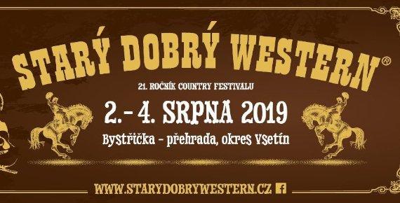 1 + 1 permanentka zdarma na festival STARÝ DOBRÝ WESTERN 2. - 4.8.2019