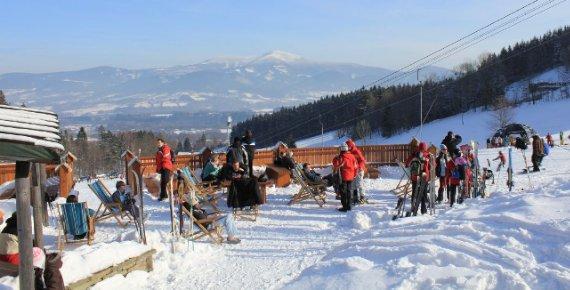 Celodenní skipas do ski areálu Opálená v Beskydech
