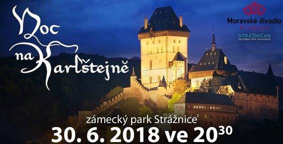 2 lístky na open air muzikál Noc na Karlštejně ve Strážnici 30.6.2018