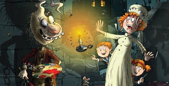 Divadelní komedie Strašidlo Cantervillské na nádvoří zámku s živým strašidlem