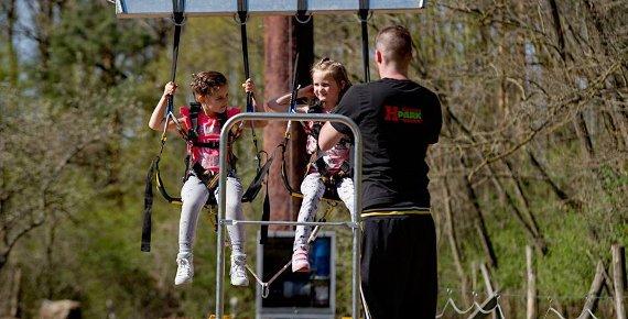 Čtyři vstupy na OBŘÍ houpačku Big Swing v Lanovém centru Hájenka Břeclav