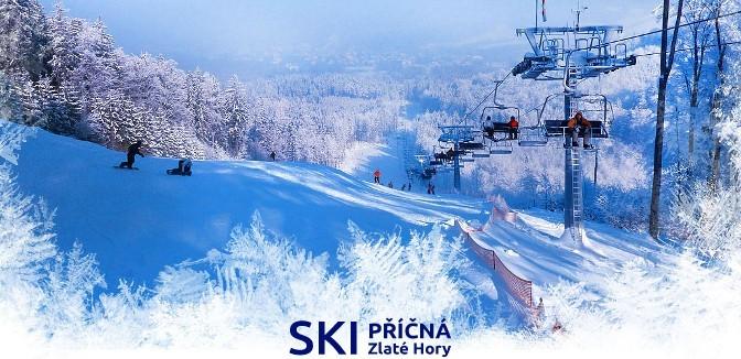 ilustrační obrázek ke slevové akci: Celodenní lyžovačka ve Zlatých Horách